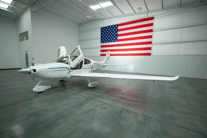 Cirrus SR22 In Hangar