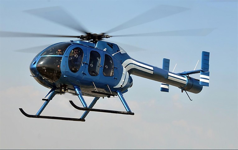 McDonnell Douglas Helicopter 600N In the sky