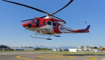Bell 412SP In the sky