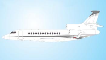 Dassault Falcon 7X paint scheme