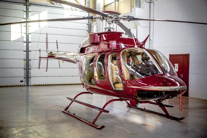 Bell 407GX In Hangar