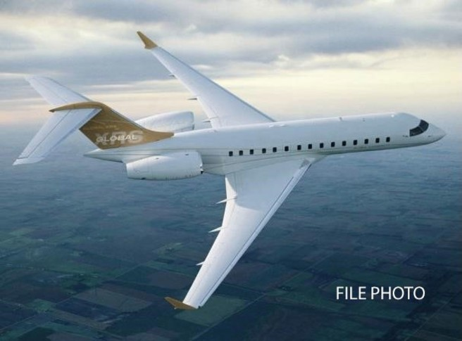 Bombardier Global Express XRS In the sky