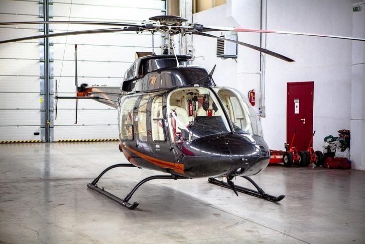Bell 407 In Hangar