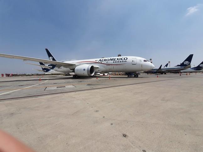 Boeing 787-8 on the runway