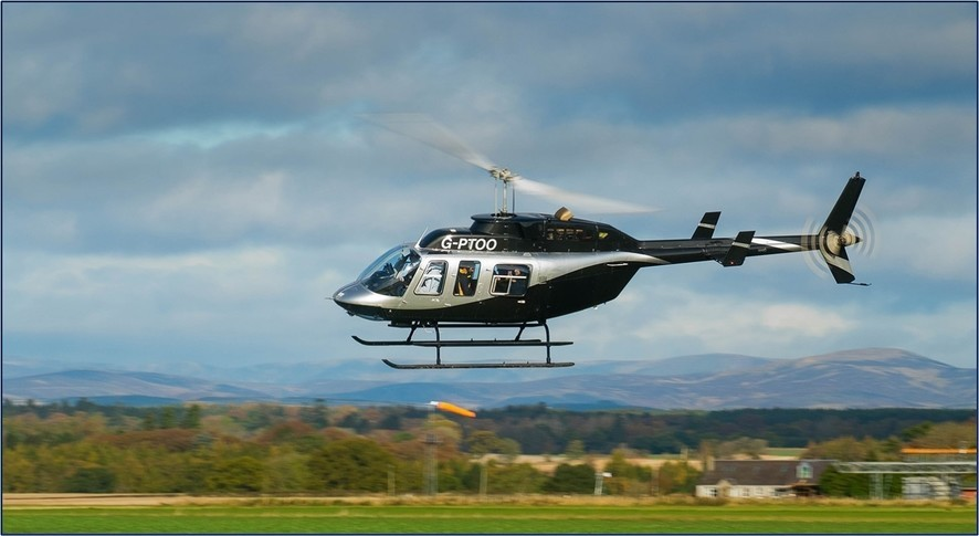 Bell 206L 4 In the sky