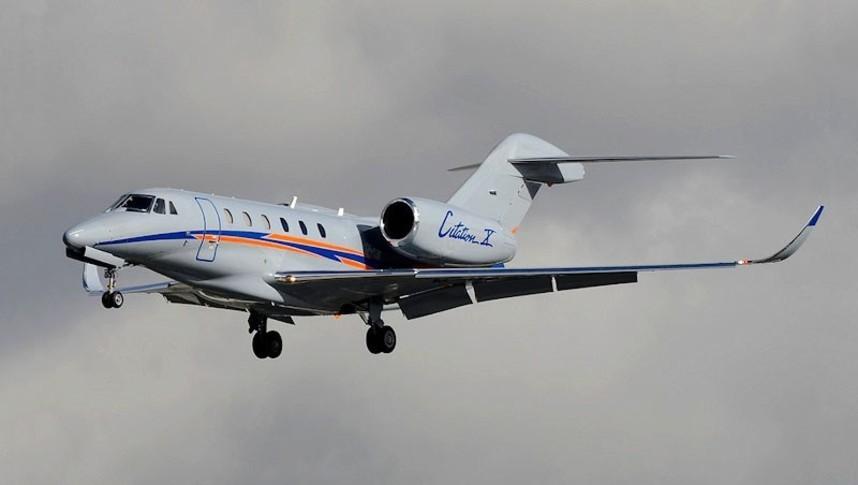 Cessna Citation X In the sky