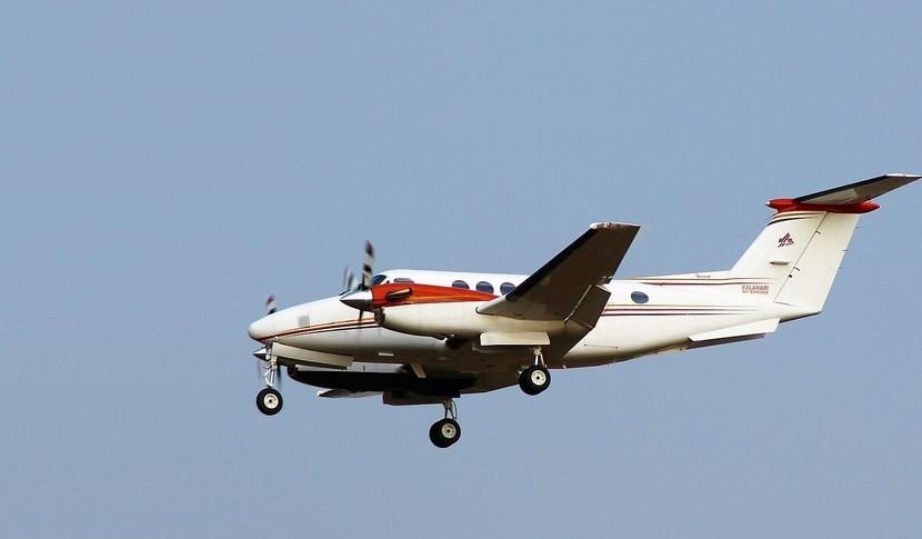 Beechcraft King Air 200 In the sky