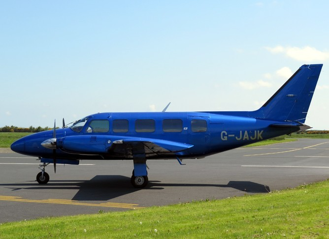 Piper Navajo Chieftain on the runway