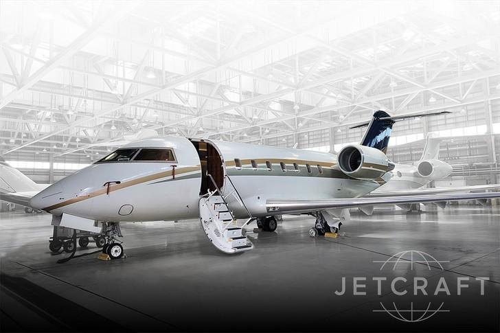 Bombardier Challenger 605 In Hangar