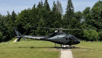 Airbus/Eurocopter AS 350B-1 on the runway