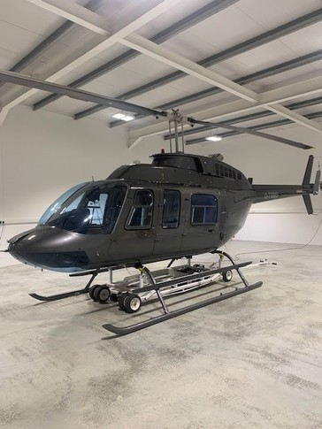 Bell 206L 3 In Hangar