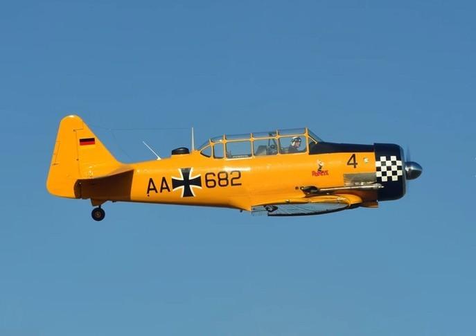 North American Harvard Mk IV In the sky