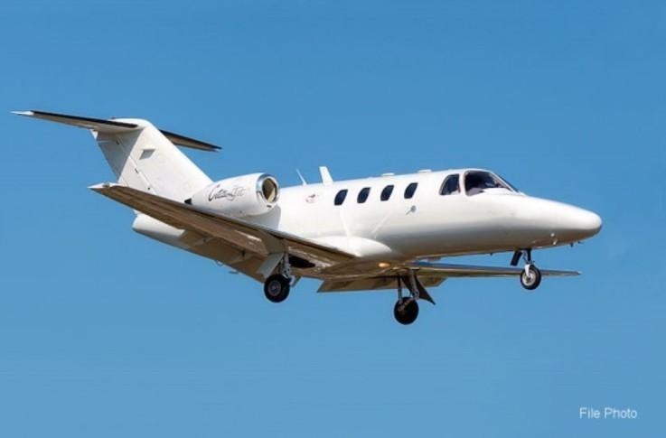 Cessna Citation Jet In the sky
