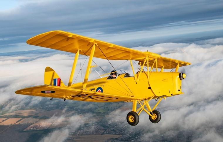 De Havilland DH82A Tiger Moth In the sky