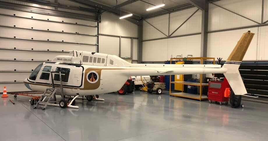 Bell 206B In Hangar
