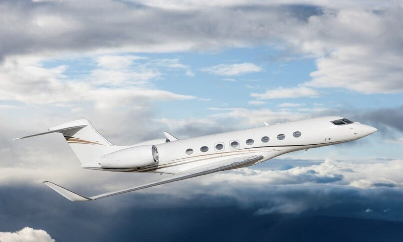 Gulfstream G650ER In the sky
