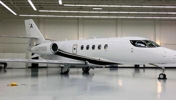 Cessna Citation Latitude In Hangar