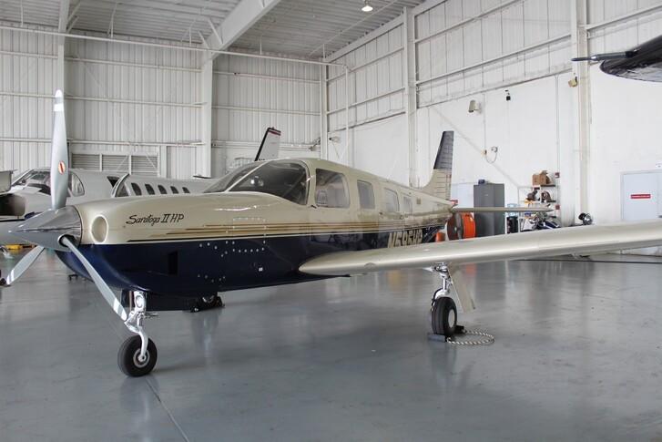 Piper Saratoga In Hangar