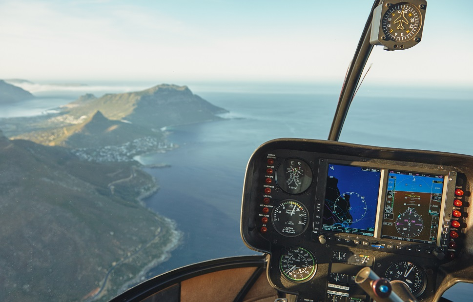 Cape Town, Viewed from a Helicopter Cockpit