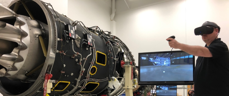Rolls-Royce provides virtual reality engine maintenance training