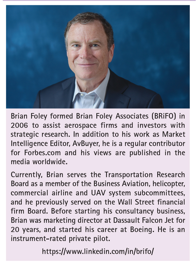 Brian Foley, Business Aviation analyst