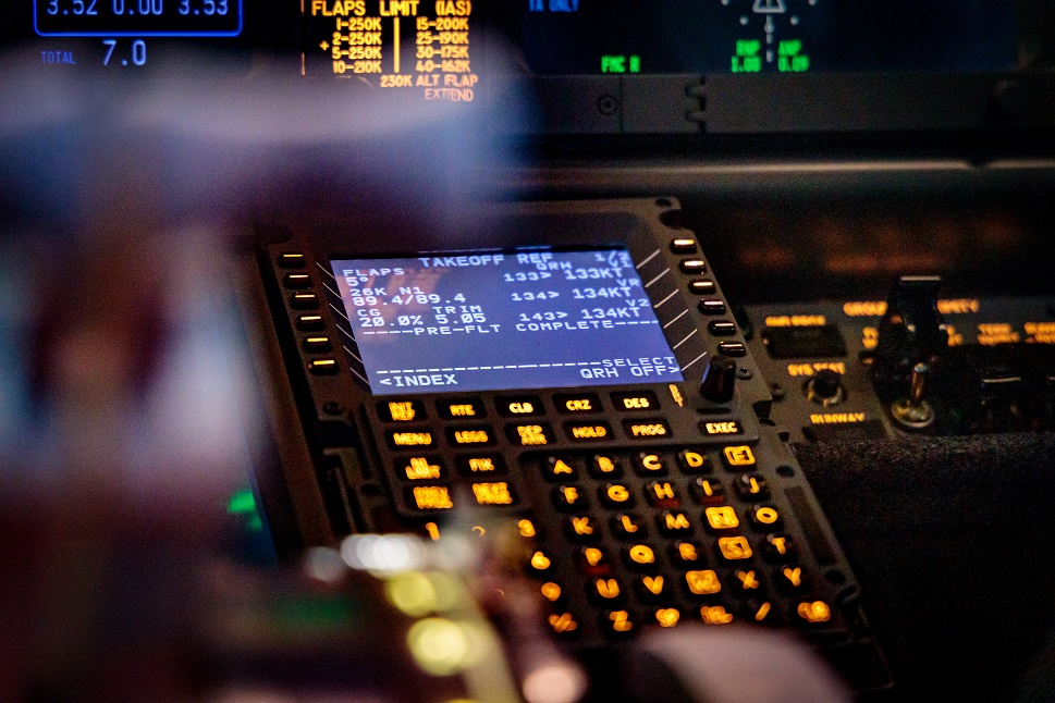 The flight management system of a business jet