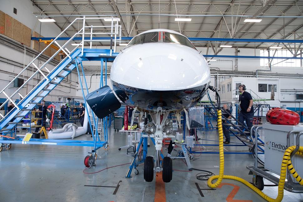 A look inside the ABS Jets hangar in Prague, Czech Republic
