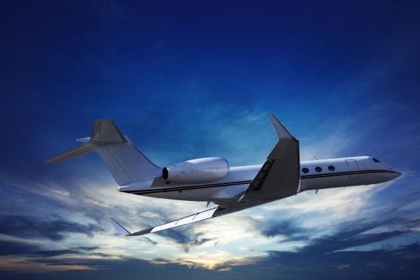Gulfstream Jet in-flight