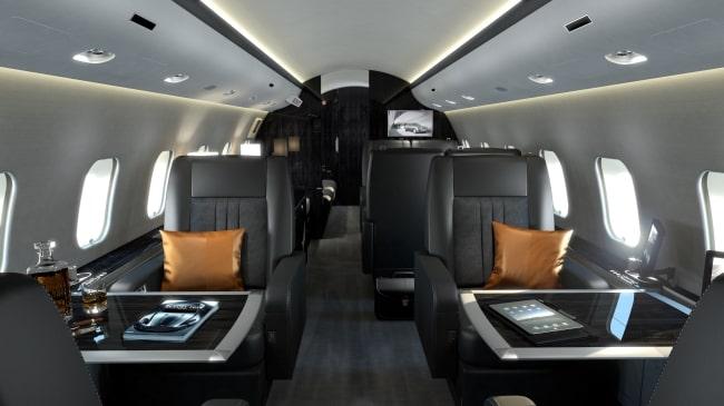 Black jet interior