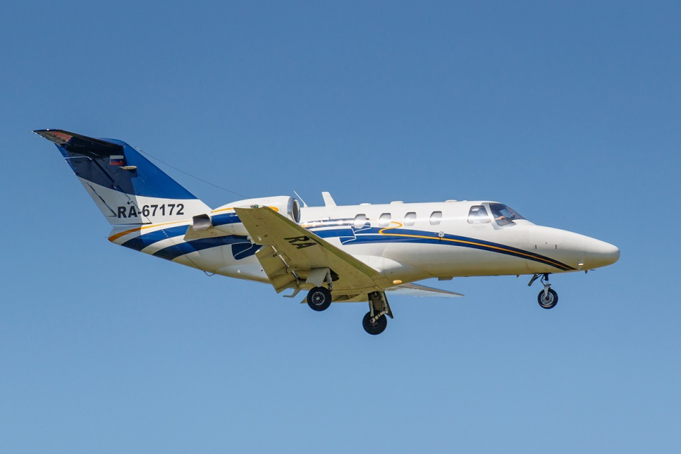 Cessna Citation CJ1 in flight