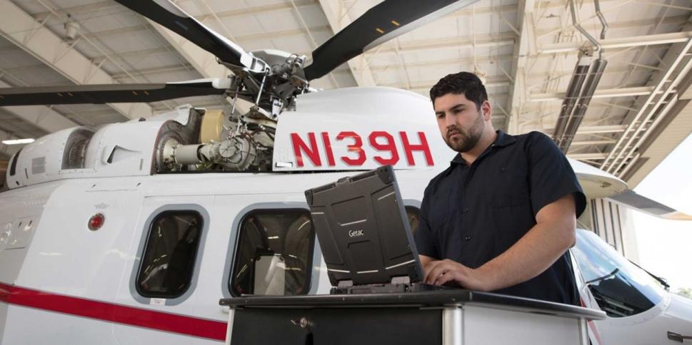 Honeywell MSP covering avionics with a Leonardo AW139 in background