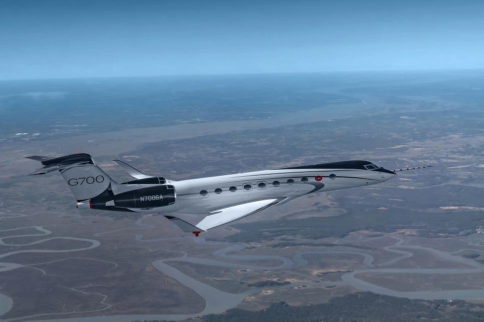 Gulfstream G700 undergoing flight testing