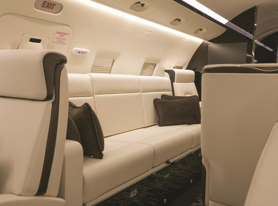 A Bombardier Challenger 604 interior refurbishment by Duncan Aviation