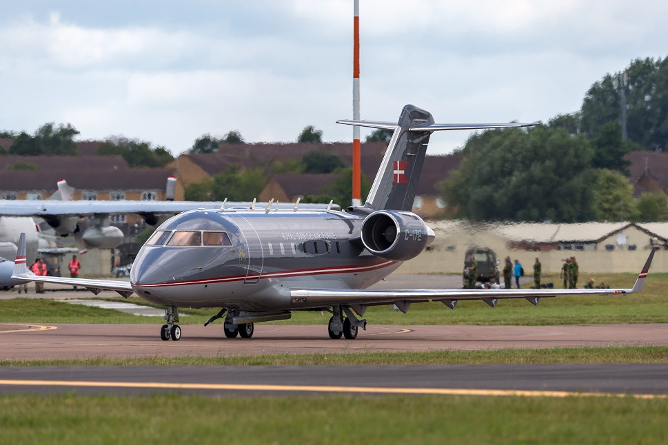 Bombardier Challenger 601-3A private jet on airport ramp