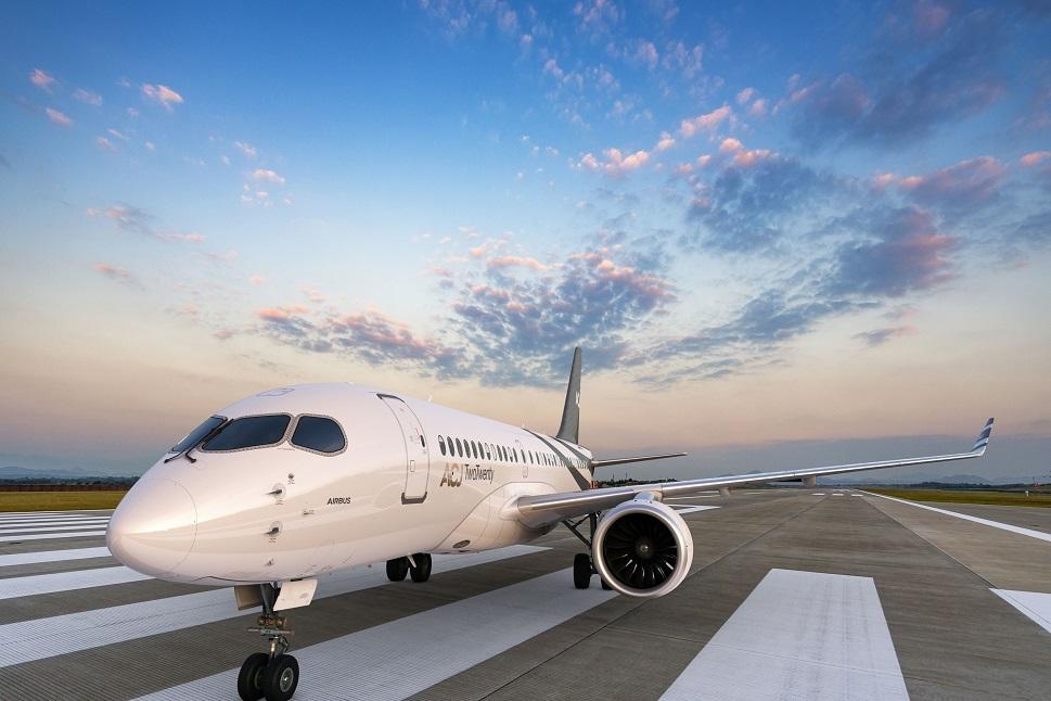 ACJ TwoTwenty on runway