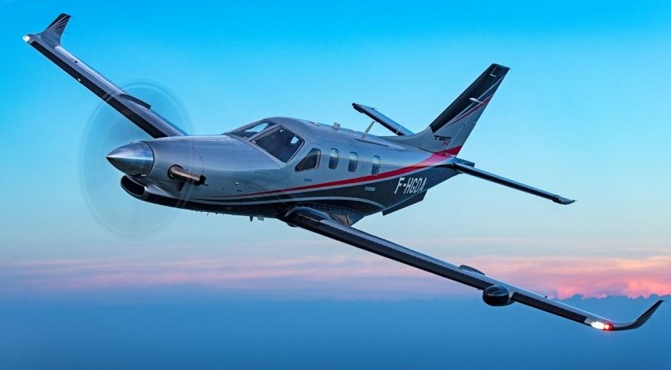 Daher's TBM 940 single-engine turboprop aircraft in flight