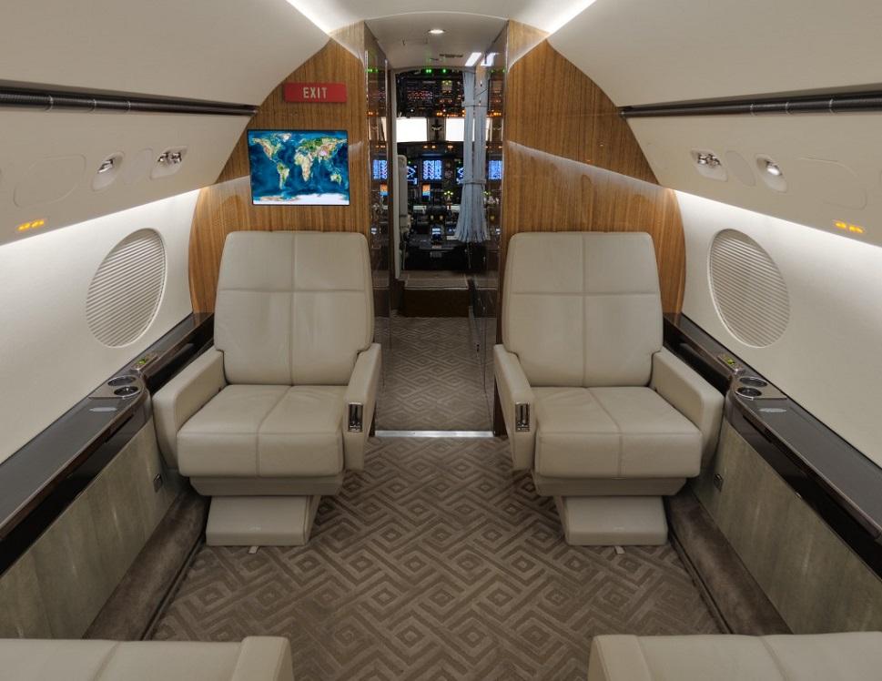 Newly-refurbished Gulfstream forward cabin section in 2007
