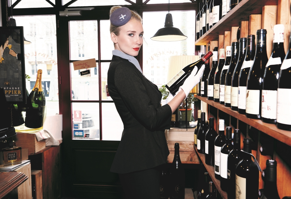 Emily inspects Luxaviation Wine