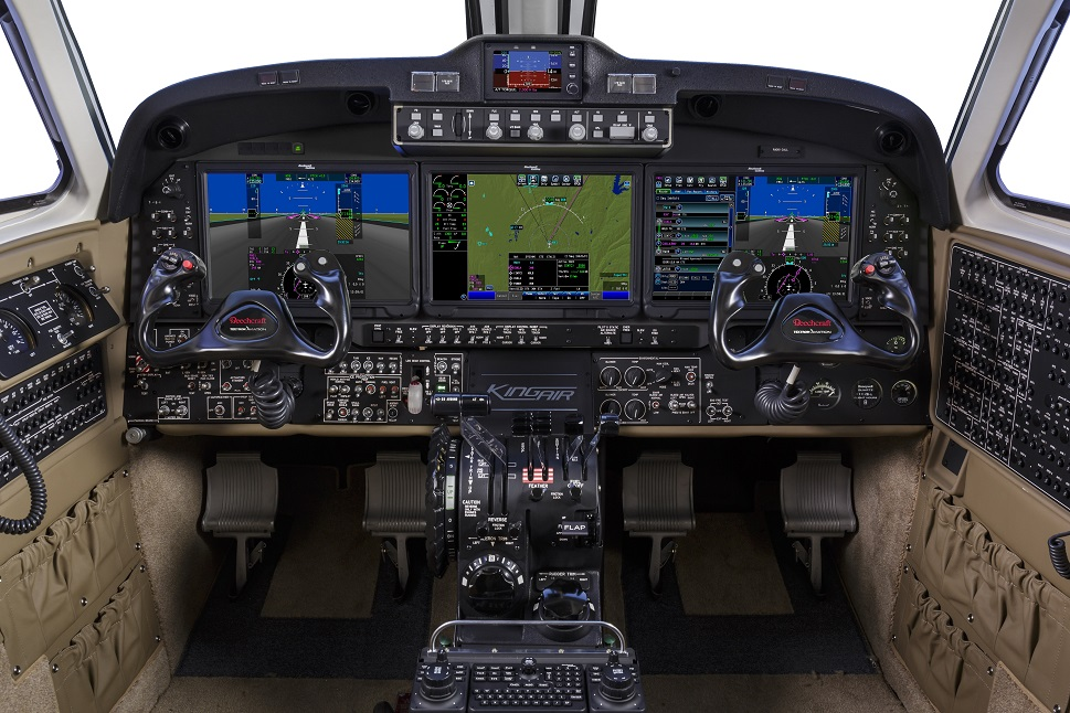 Flight deck of the new Beechcraft King Air 360