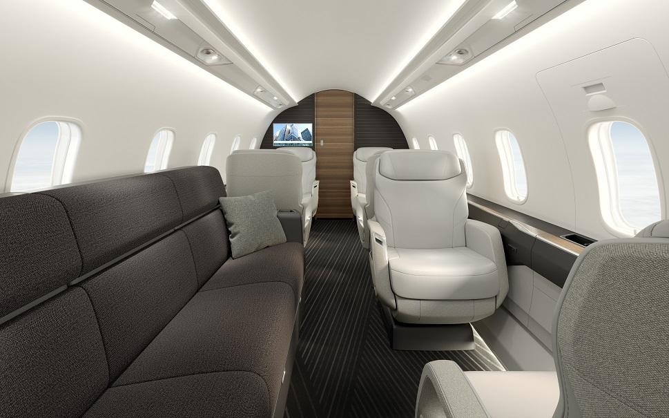 Bombardier's Challenger 3500 cabin with enhanced comfort