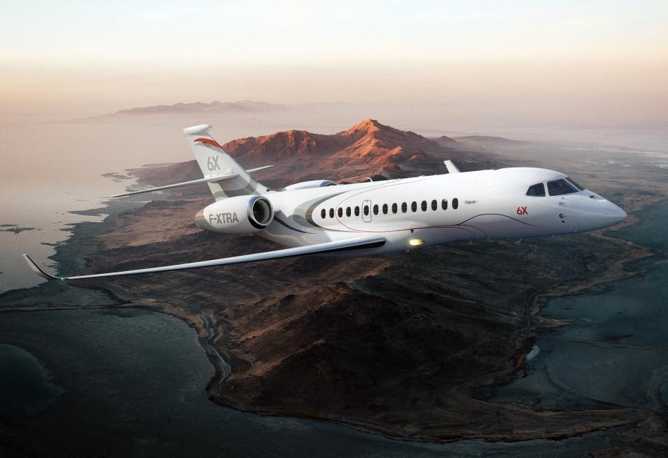 Dassault Falcon 6X Large Jet in-flight