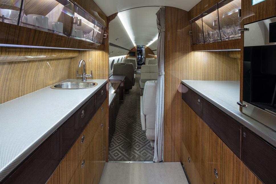 Gulfstream GIV galley 14 years after refurbishment