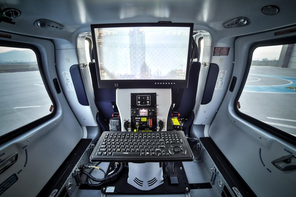 Bulgarian Border Guard Tactical Workstation installed in a Leonardo AW109