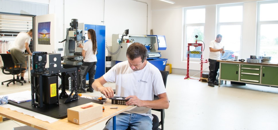 Airborne Technologies Staff working at the company's headquarters in Austria