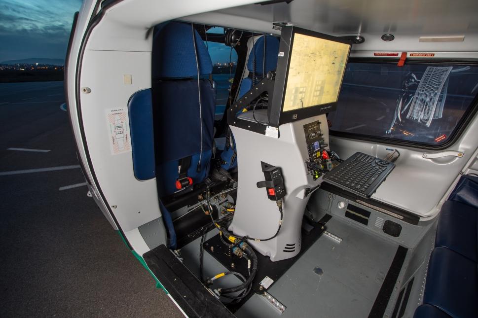 Airborne Technologies Bulgarian Border Force AW109 Cabin