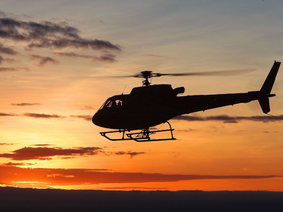 Airbus H125 Flies Into the Sunset