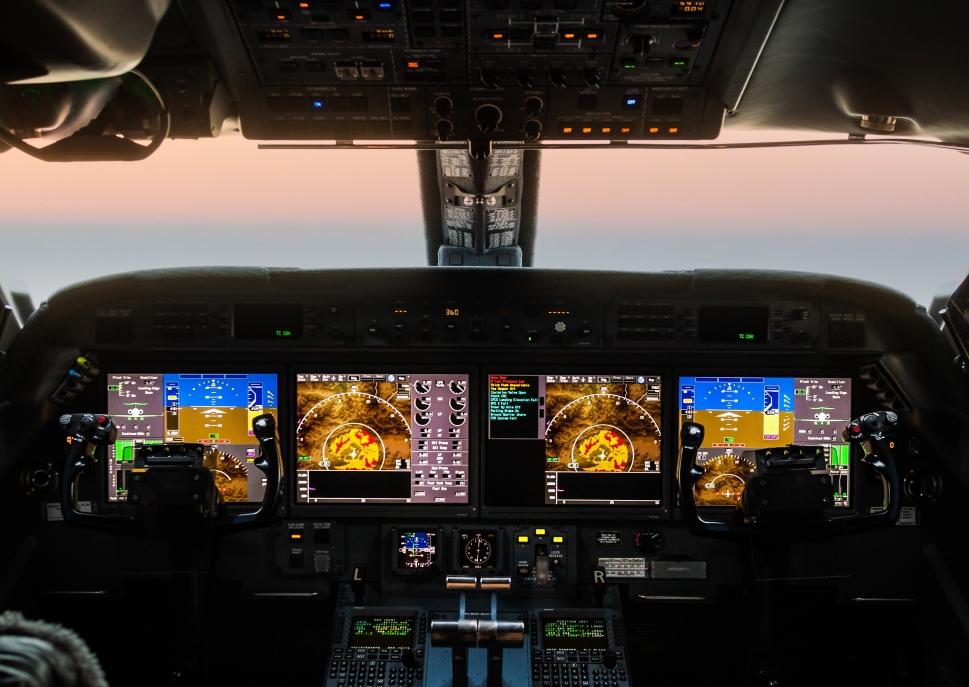 Avionics Suite in a Large Cabin Jet