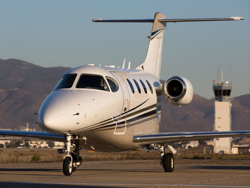 Beechcraft Premier I private jet at the airport