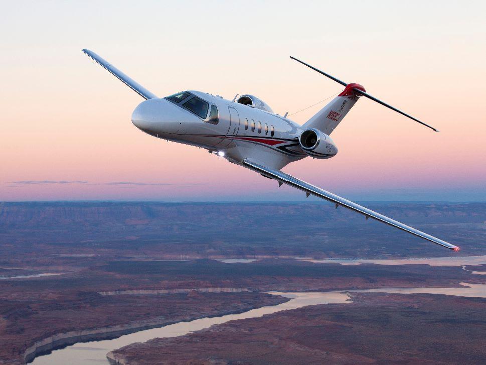 Cessna Citation Private Jet in Flight