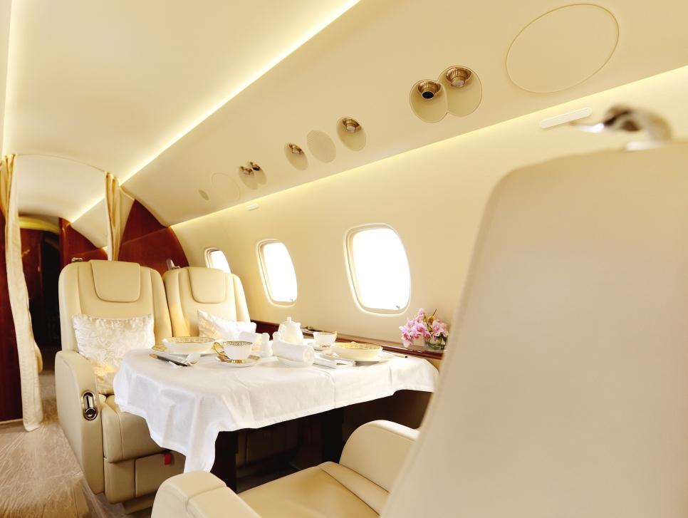 Bombardier Global Private Jet Interior